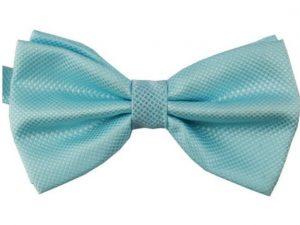Mr. Pefe Luxe vlinderstrik lichtblauw – Satijn Geblokte Strik