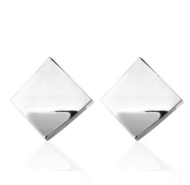 Manchetknopen Vierkant Ovaal Zilver