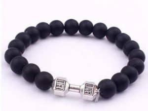 Armband Tibet Charm Zwart en Zilverkleurig
