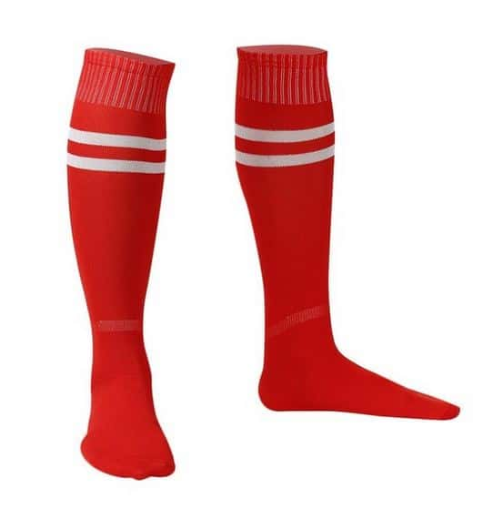 Sport - Rode sportsokken – Kniekausen – Heren sokken – voetbalsokken – hockeysokken