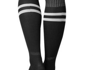 Sport - Zwarte sportsokken – Kniekausen – Heren sokken – voetbalsokken – hockeysokken