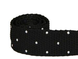 Mr. Pefe Stropdas gevlochten Katoen Zwart met witte stip