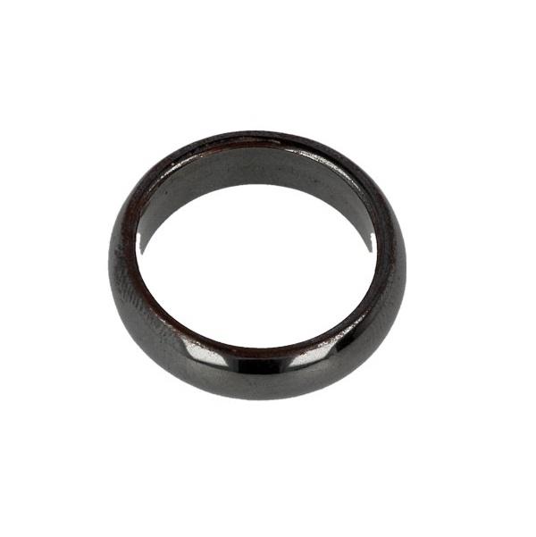 Hematiet edelsteen ring 6 mm
