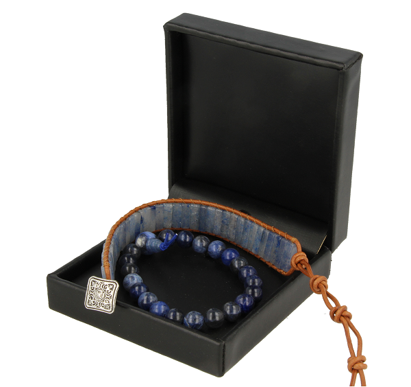 Combinatie armband Sodaliet & Blauw Kwarts