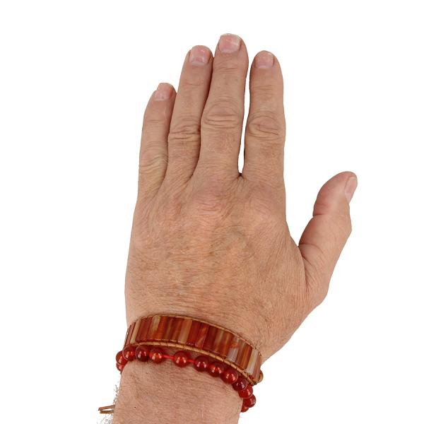 Combinatie armband Carneool